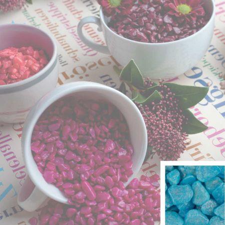 Συσκευασία 550ml Διακοσμητικό χαλίκι χρωματιστό Γαλάζιο 5-8mm