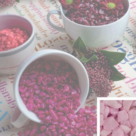 Συσκευασία 550ml Διακοσμητικό χαλίκι χρωματιστό Ροζ 5-8mm