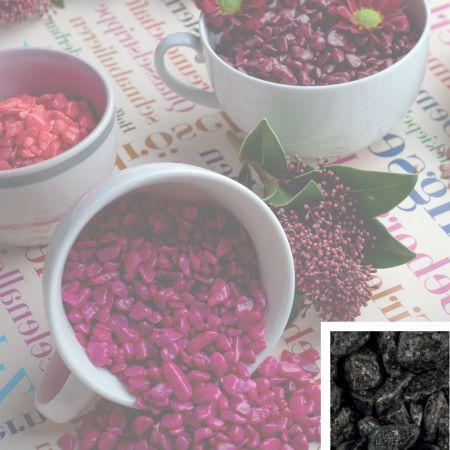 Συσκευασία 550ml Διακοσμητικό χαλίκι χρωματιστό Ανθρακί 5-8mm