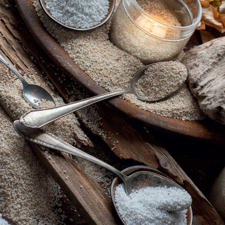 Συσκευασία 1kg Διακοσμητική χοντρή άμμος Λευκή 1,2-1,8mm