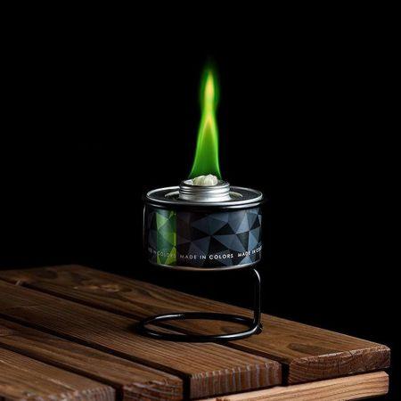 Διακοσμητική χρωματιστή φλόγα Πράσινη