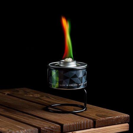 Διακοσμητική χρωματιστή φλόγα Κόκκινη - Πράσινη