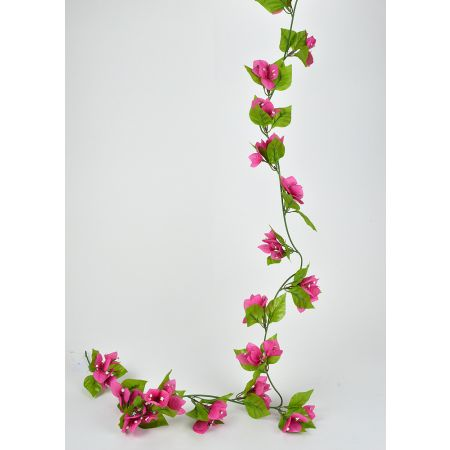 Διακοσμητική γιρλάντα Βουκαμβίλιας Φούξια 180cm