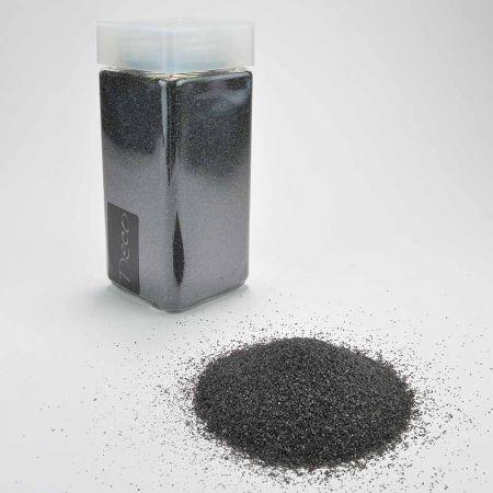 Συσκευασία 550ml Διακοσμητική άμμος χρωματιστή Μαύρη 0,5mm