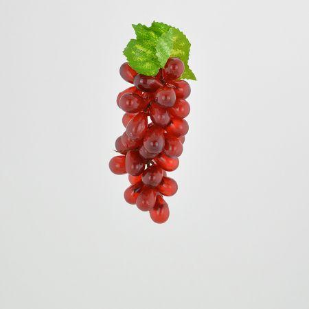 Διακοσμητικό σταφύλι - απομίμηση Κόκκινο 15cm
