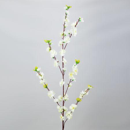 Διακοσμητικό κλαδί με άνθη αμυγδαλιάς Λευκό 120cm