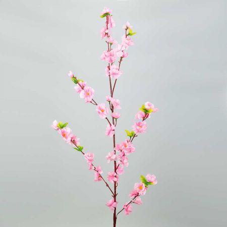Διακοσμητικό κλαδί με άνθη αμυγδαλιάς Ροζ 120cm