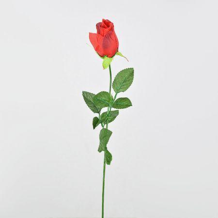 Διακοσμητικό τριαντάφυλλο - μπουμπούκι κόκκινο 61cm