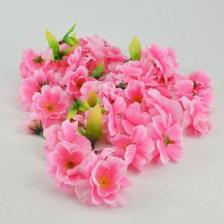 Σετ 50τχ διακοσμητικά άνθη κερασιάς, Ροζ 4-5cm
