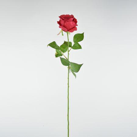 Διακοσμητικό τριαντάφυλλο - κόκκινο 62cm