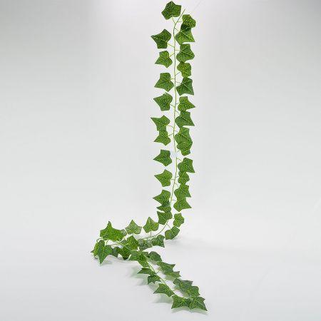 Διακοσμητική τεχνητή γιρλάντα κισσός Πράσινη 190cm
