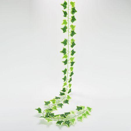 Διακοσμητική τεχνητή γιρλάντα κισσός Πράσινη δίχρωμη 190cm