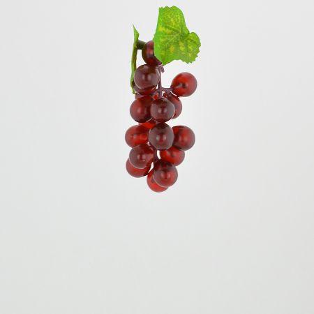Διακοσμητικό σταφύλι - απομίμηση Κόκκινο 10cm