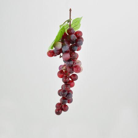 Διακοσμητικό σταφύλι - απομίμηση Κόκκινο - Μαύρο 20cm