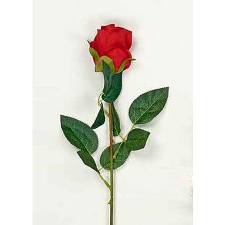 Διακοσμητικό τριαντάφυλλο - μπουμπούκι κόκκινο 63cm