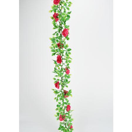 Διακοσμητική γιρλάντα με Κόκκινα τριαντάφυλλα 200cm