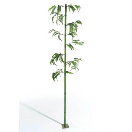 Διακοσμητικός κορμός μπαμπού Πράσινος με φύλλα 180cm