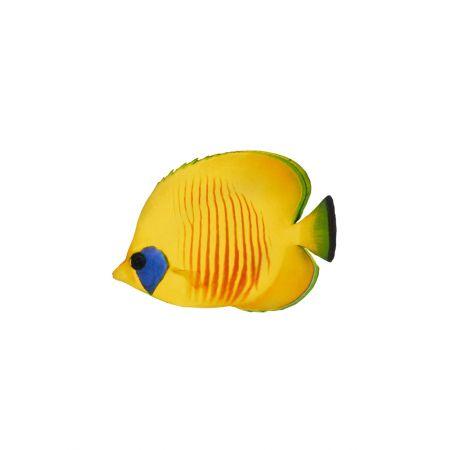 Διακοσμητικό ξύλινο τροπικό ψάρι -butterfly fish- 20x15cm