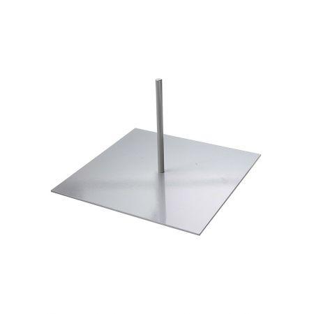Μεταλλική βάση για κορμό σημύδας 30x30cm