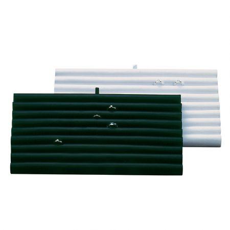 Βάση παρουσίασης για δαχτυλίδια Λευκή 36x20x2,5cm