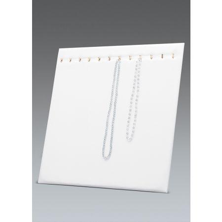 Σταντ παρουσίασης για κολιέ 39x30cm-Λευκή Δερματίνη