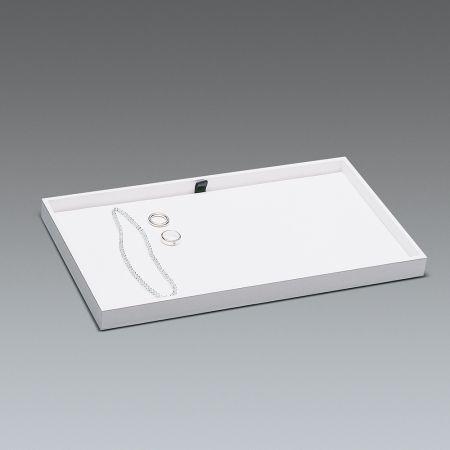 Δίσκος παρουσίασης για κοσμήματα Λευκός 37,5x21x3cm