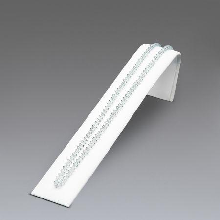 Σταντ παρουσίασης επικλινές για βραχιόλια - ρολόγια Λευκό 5x4x20,5cm