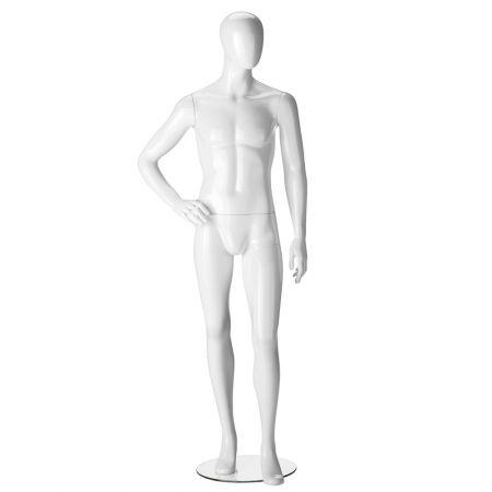 Ανδρική Κούκλα Βιτρίνας με Αφαιρετικό Κεφάλι 190cm-Position 3