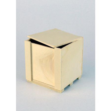 Διακοσμητικό Κουτί Ξύλινο 7.5x7.5x8cm