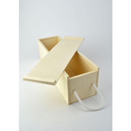 Διακοσμητικό Κουτί Ξύλινο-Μπουκαλοθήκη 34.5x10.5x10.5cm