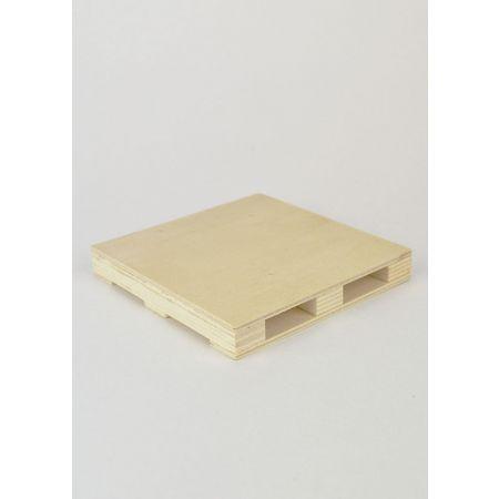 Διακοσμητικό Ξύλινο Σουβέρ-Παλέτα 11x11x1.5cm