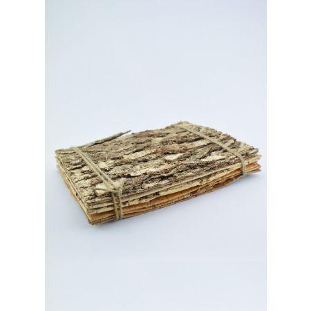 Σετ 6τχ διακοσμητικές ορθογώνιες πλάκες φλοιού δέντρου, από φυσικό ξύλο.