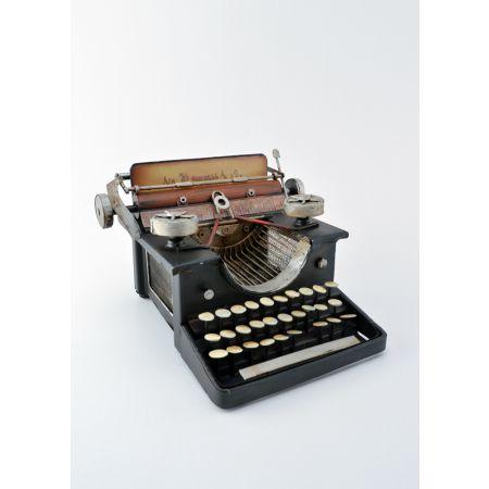 Διακοσμητική Γραφομηχανή Μαύρη 15x21x22cm