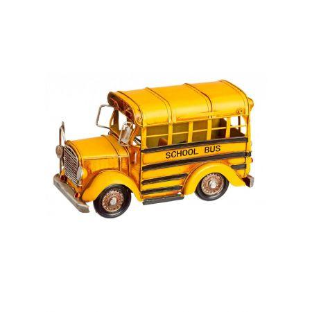 Διακοσμητικό σχολικό λεωφορείο 14x23x12cm