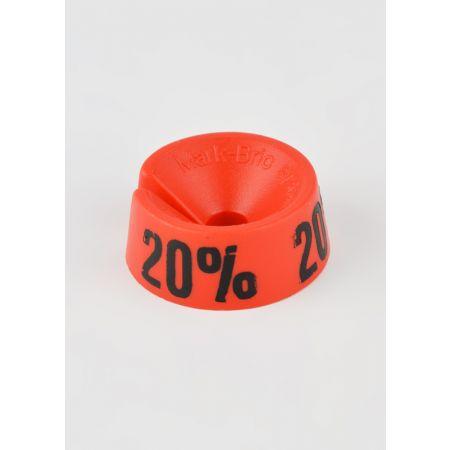 20% Σετ 25τμχ Σήμανση Προσφορών Κόκκινο-Μαύρο