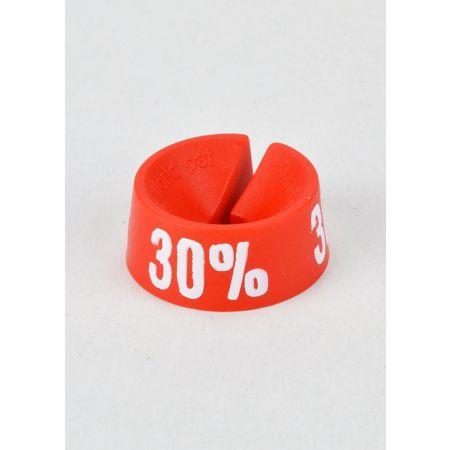 30% Σετ 25τμχ Σήμανση Προσφορών Κόκκινο-Λευκό