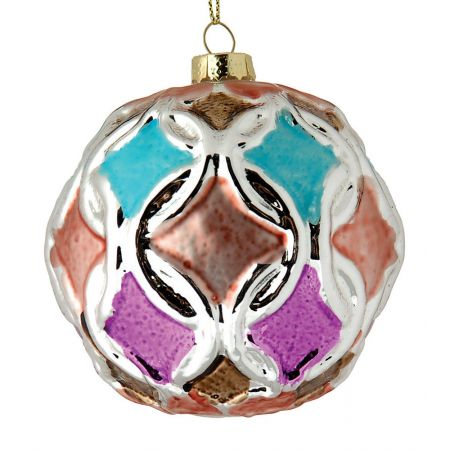 Χριστουγεννιάτικη μπάλα γυάλινη 10cm