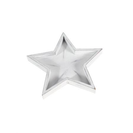 Χριστουγεννιάτικο ξύλινο αστέρι - δίσκος 30cm