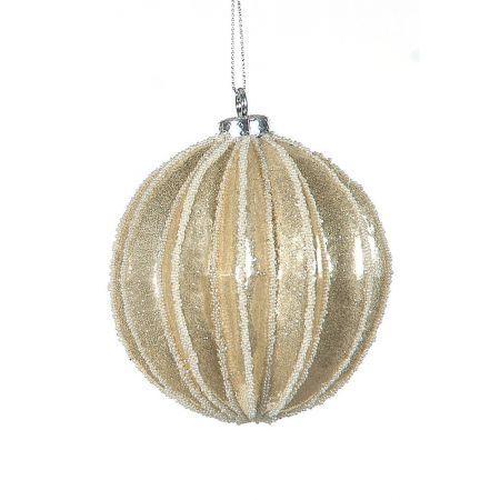 Χριστουγεννιάτικη μπάλα Σαμπανί 10cm