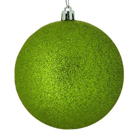 Χριστουγεννιάτικη μπάλα πλαστική Λαχανί 10cm