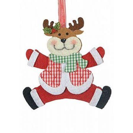 Χριστουγεννιάτικο κρεμαστό στολίδι - Τάρανδος 15cm