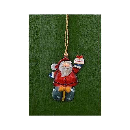 Χριστουγεννιάτικο κρεμαστό στολίδι - Άγιος Βασίλης 8cm