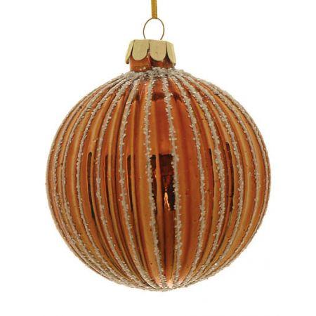 Χριστουγεννιάτικη μπάλα γυάλινη Χάλκινη 10cm