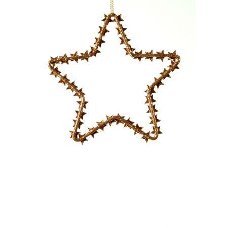 Χριστουγεννιάτικο κρεμαστό στολίδι - Αστέρι 9x10cm