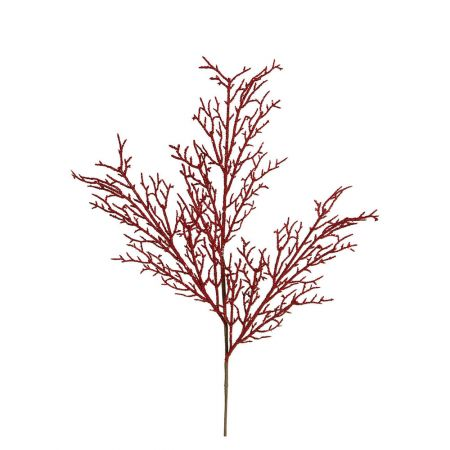 Διακοσμητικό Χριστουγεννιάτικο κλαδί Glitter κόκκινο 60x20cm