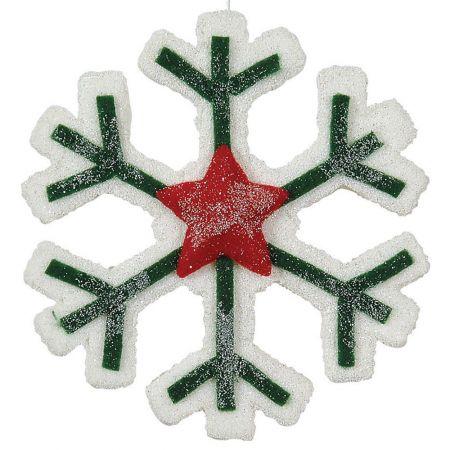 XL Χριστουγεννιάτικο στολίδι νιφάδα 30cm