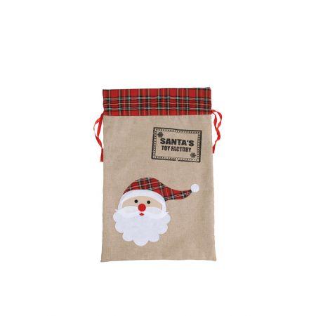 Χριστουγεννιάτικο πουγκί-τσουβάλι SANTA'S TOY FACTORY 46x71cm
