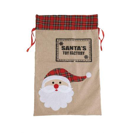 Χριστουγεννιάτικο πουγκί-τσουβάλι SANTA'S TOY FACTORY 55x85cm