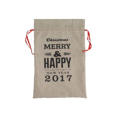 Χριστουγεννιάτικο πουγκί-τσουβάλι MERRY CHRISTMAS 55x85cm