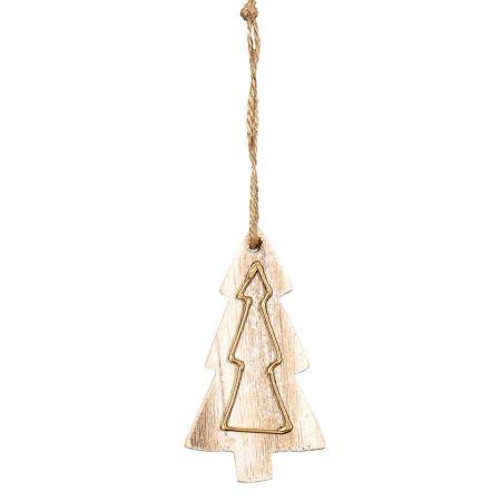 Χριστουγεννιάτικο στολίδι -Δεντράκι- από ξύλο 5x9cm